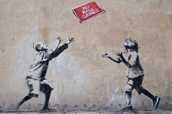 Spielkinder von Banksy