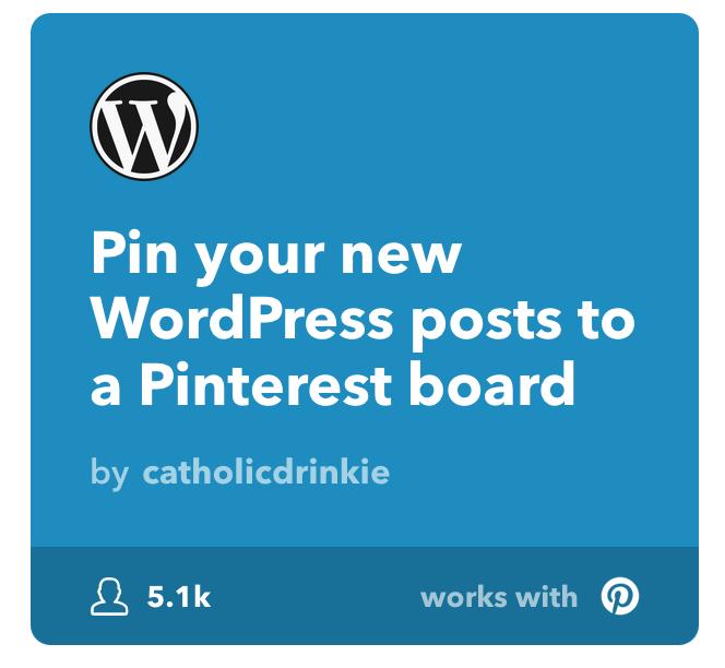 Applet, um WordPress und Pinterest zu verbinden